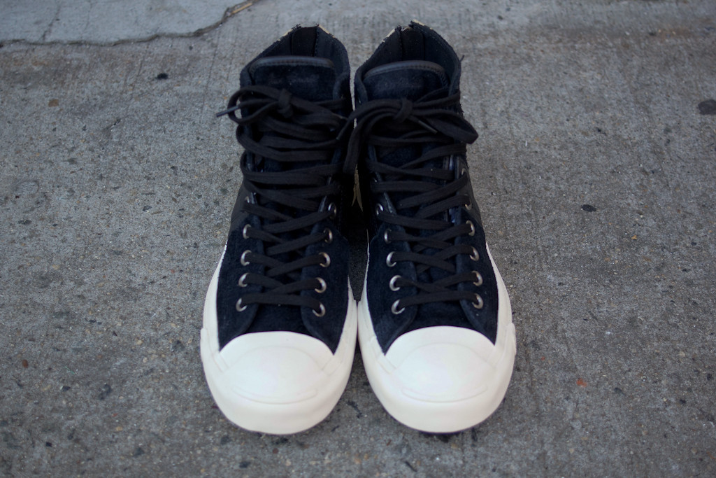912cb3eea9b6 Invincible x Converse First String Jack Purcell Johnny in black leopard top  view