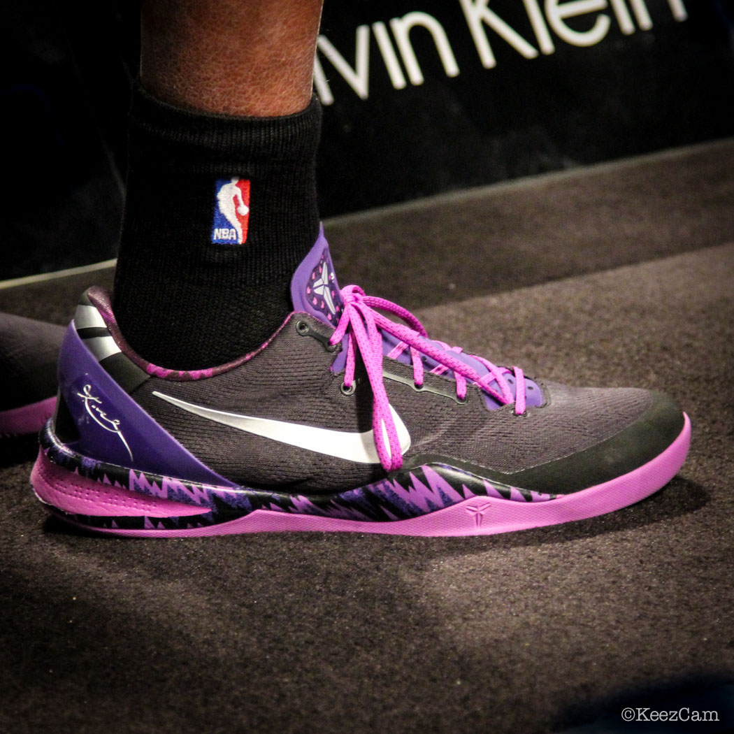 SoleWatch // Up Close At Barclays for Nets vs Lakers - Kobe Bryant wearing Nike Kobe 8 Philippines