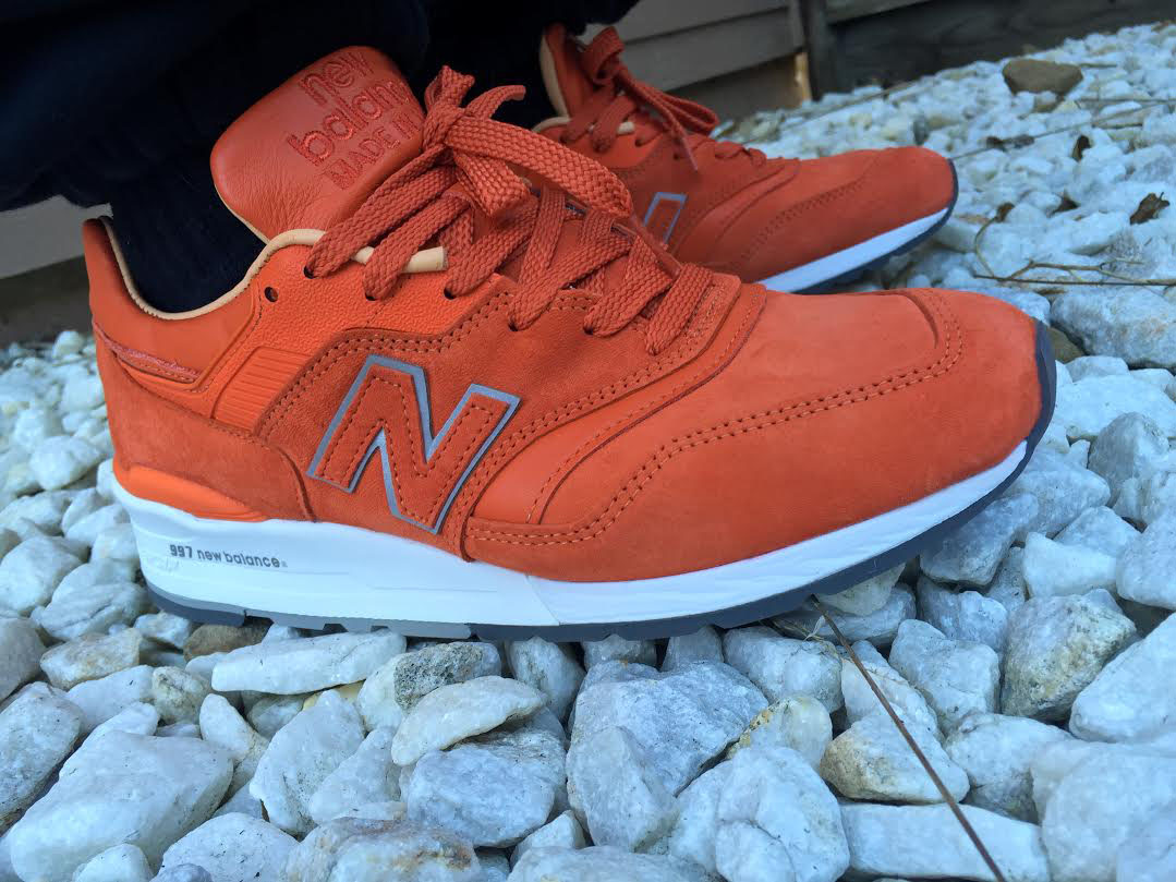 woonick wearing the 'Luxury Goods' Concepts x New Balance 997