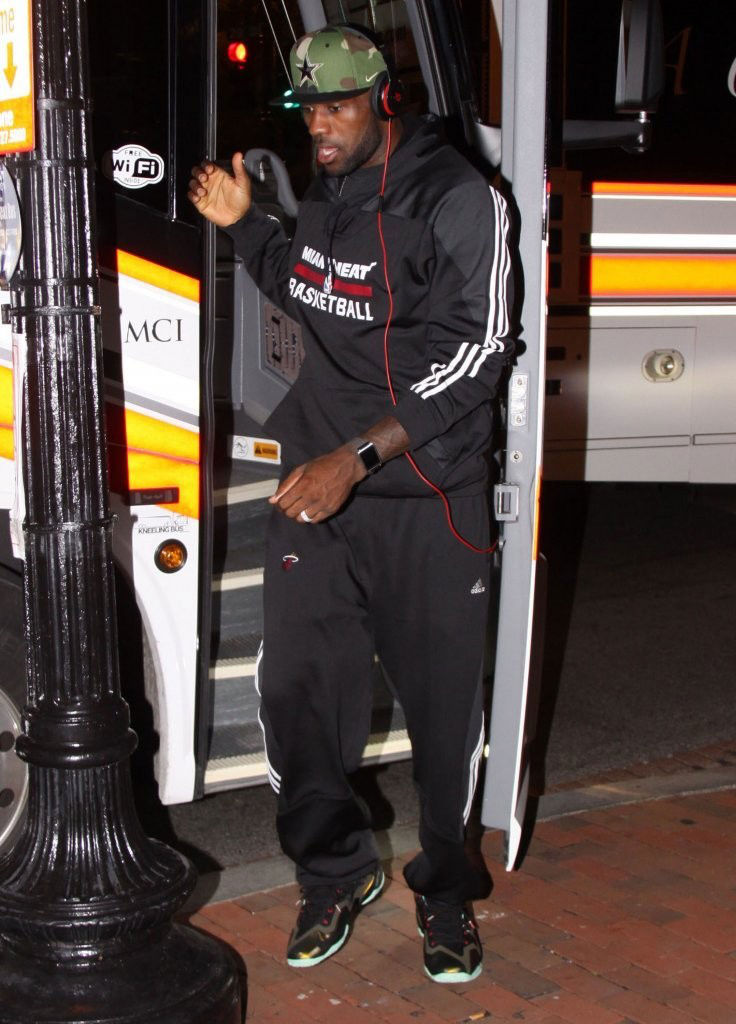 LeBron James wearing Nike LeBron 11 King's Pride