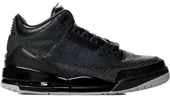 cheap for discount 3db86 0933f Air Jordan III 3 Flip Black Metallic Silver 315767-001