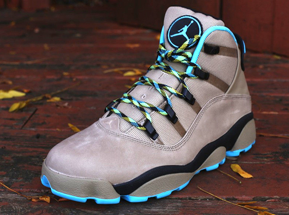 0e3d1af7d76190 The Khaki Gamma Blue-Varsity Maize Jordan Six Rings Winterized is now  available at select spots such as Oneness.