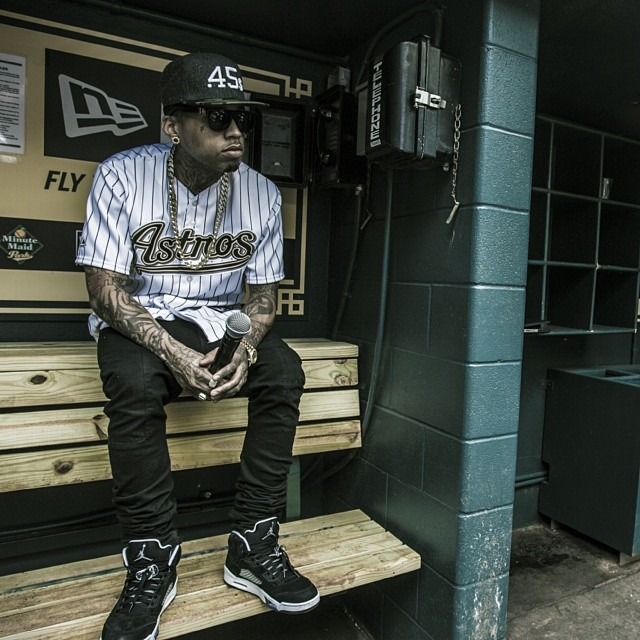 Kid Ink wearing Air Jordan V 5 Retro Oreo