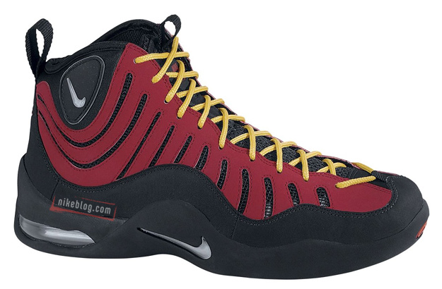 Nike Air Bakin  Black Metallic Silver-Varsity Red-Orange Blaze Style     316383-001. April 5 222480602