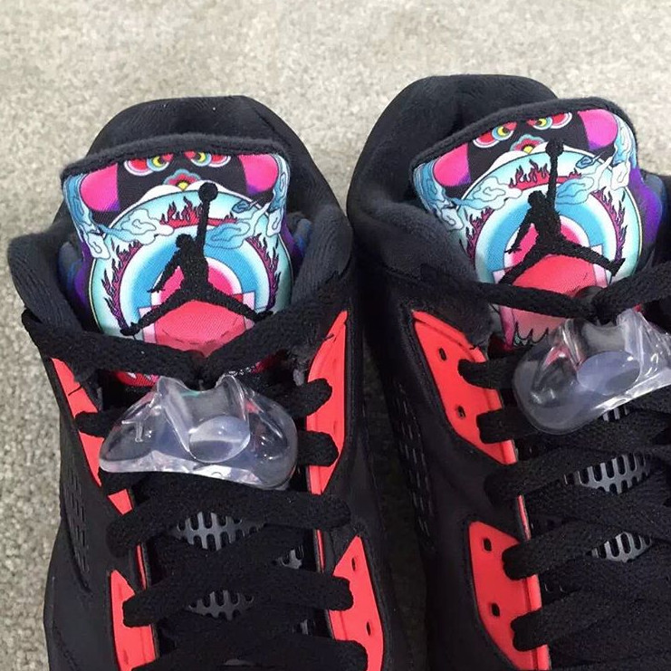 07c416739aaa See What the  China  Air Jordan 5 Low Looks Like On-Foot