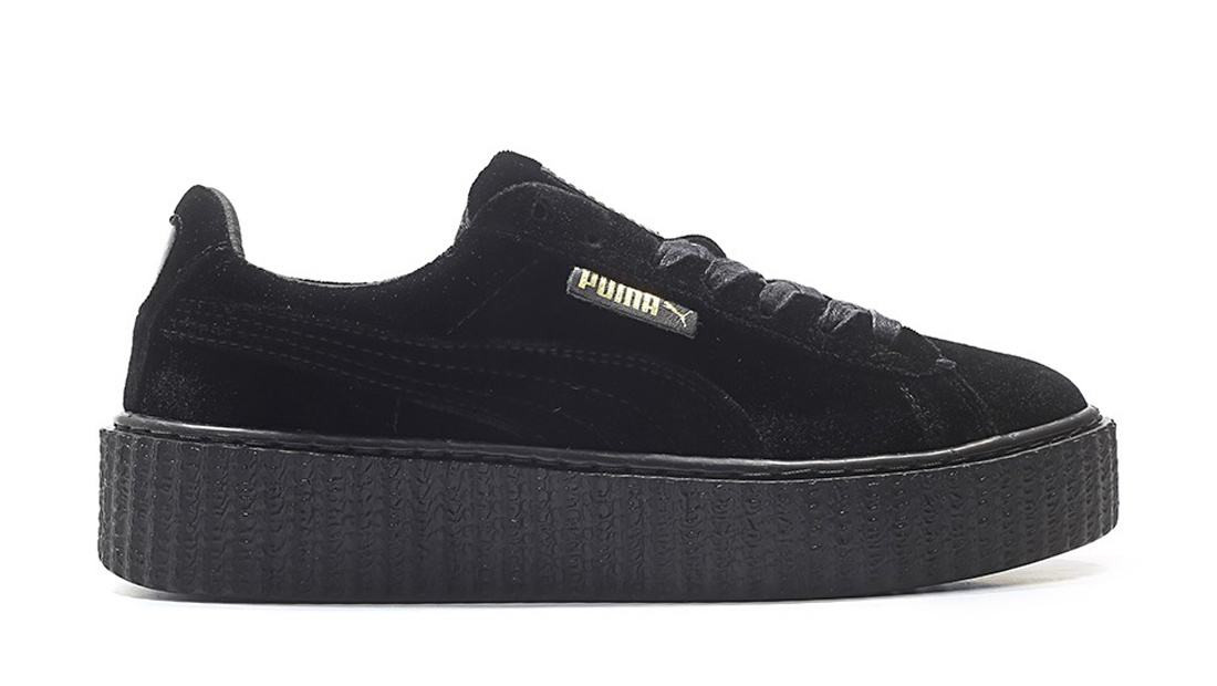 Puma Creeper Velvet x Fenty by Rihanna Black Sole Collector Release Date Roundup