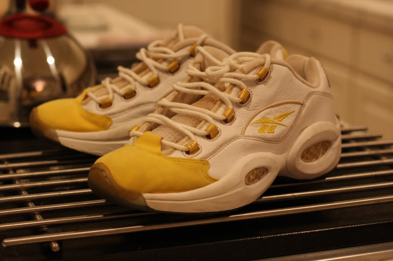 Reebok Question Low White Yellow