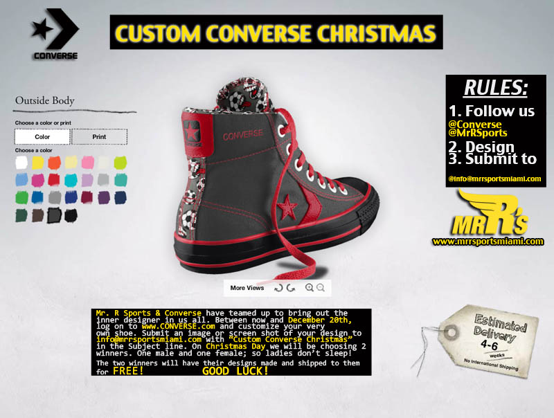 Custom Converse Christmas with Mr. R Sports 2