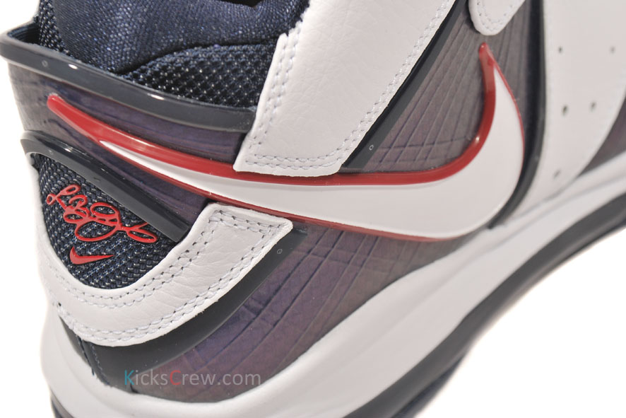 the best attitude d15f8 a282d ... Nike Air Max LeBron 8 USA White White Midnight Navy Varsity Red 417098-100  ...