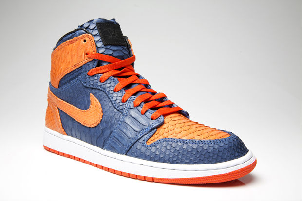 Air Jordan I 1 Knicks Python for DJ Clark Kent by JBF Customs (3)