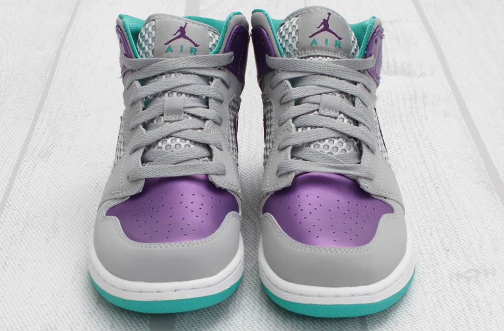 Air Jordan 1 Phat GS Wolf Grey Ultraviolet Green 364781-016 (2)