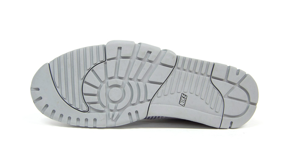 Nike Air Trainer 1 Mid SP Monotones pack in silver and midnight fog outsole