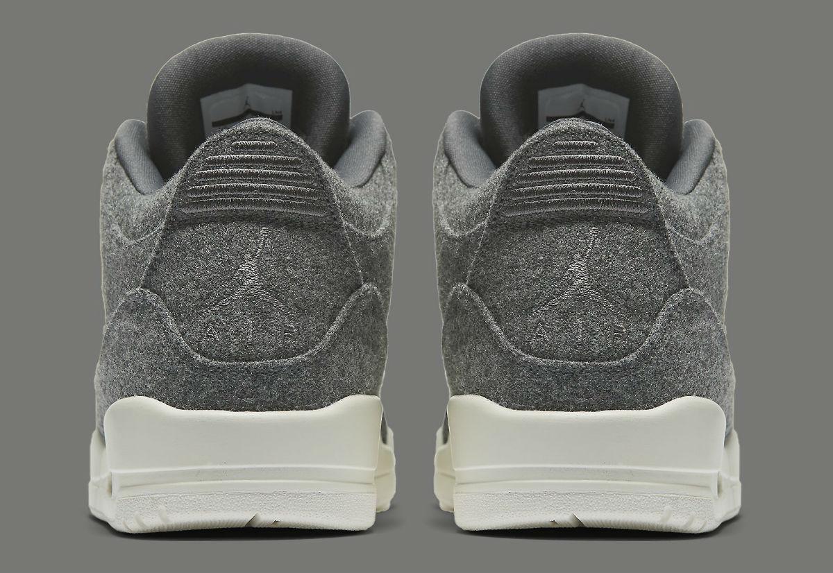 e6c28c699eca9b Air Jordan 3 Wool Release Date Heel 854263-004