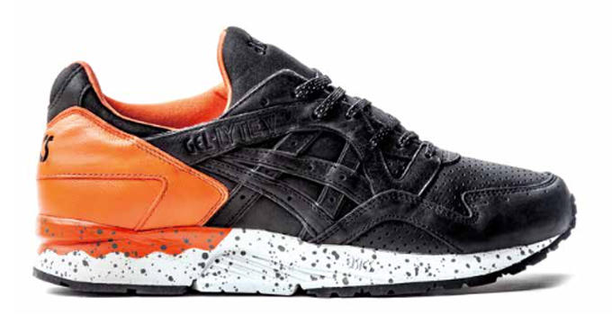 asics gel lyte v shoes black orange