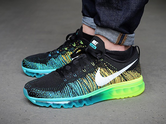 Nike Flyknit Air Max BlackWhite Turbo Green Volt | Sole