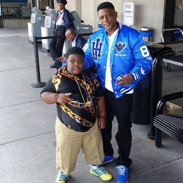 TerRio wearing Nike KD VI 6 Liger; Lil' Boosie wearing Nike Air Force 1 Low Game Royal