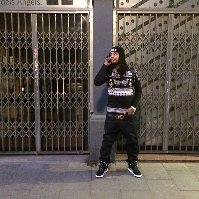 Waka Flocka Flame wearing Air Jordan 5 Oreo
