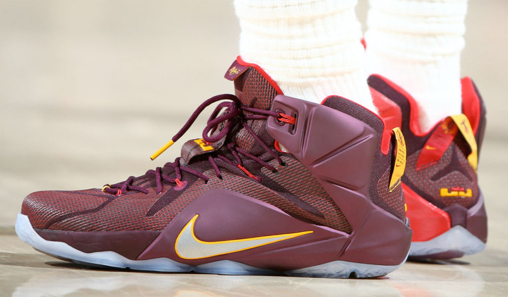 newest collection 1e0b4 44d20 italy lebron james wears double helix nike lebron xii 12 for game 2 3 b72dd  793c2