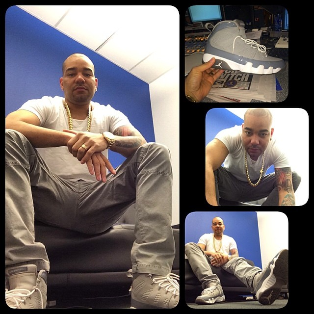 85316410055630 DJ Envy wearing Air Jordan IX 9 Cool Grey