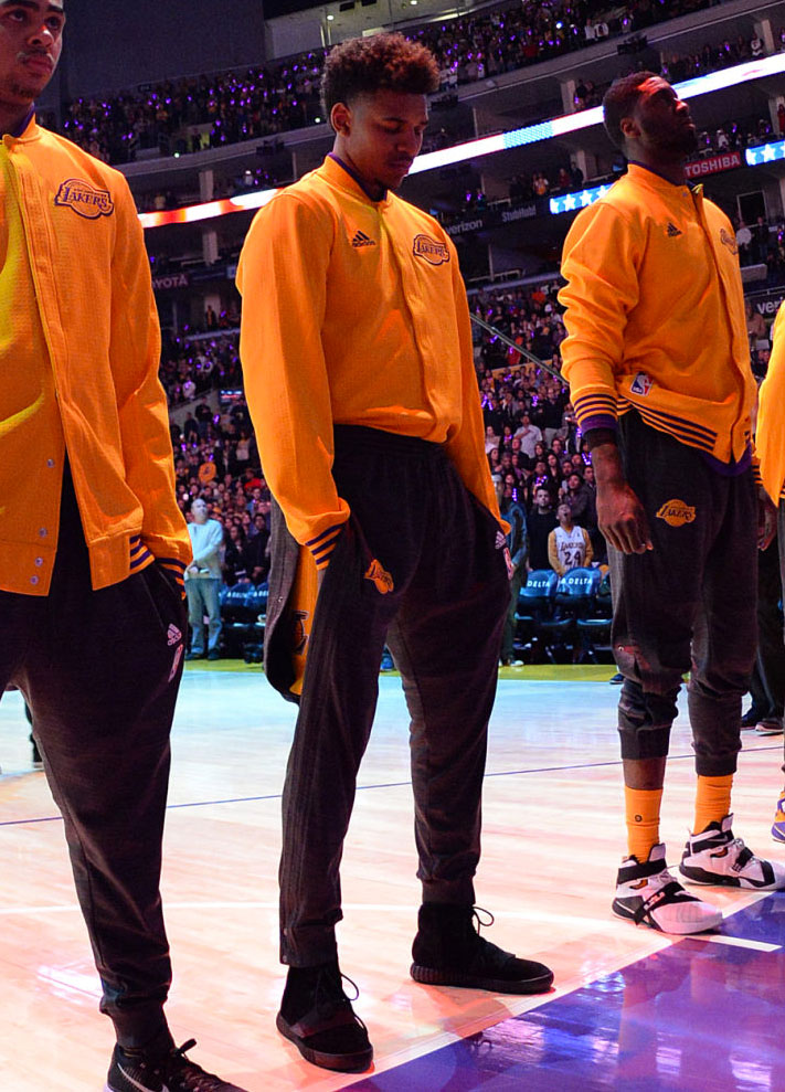 Nick Young Plays in the 'Black' adidas Yeezy 750 Boost (2)