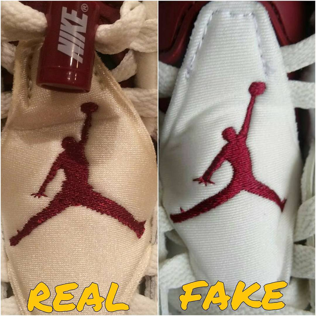 new styles 0774c 36eac How To Tell If Your 'Maroon' Air Jordan 6s Are Real or Fake ...