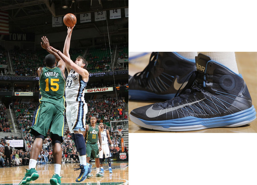 The 10 Worst NBA Plays of 2013 - 6. Marc Gasol Plays Defense with His Sneaker