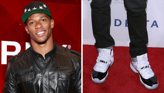 Victor Cruz Wears Air Jordan Retro XI 11 Concord
