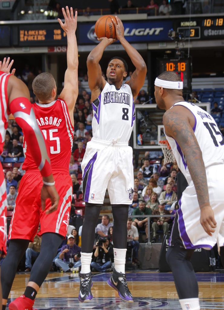 Rudy Gay wearing Nike Zoom HyperRev Black PE