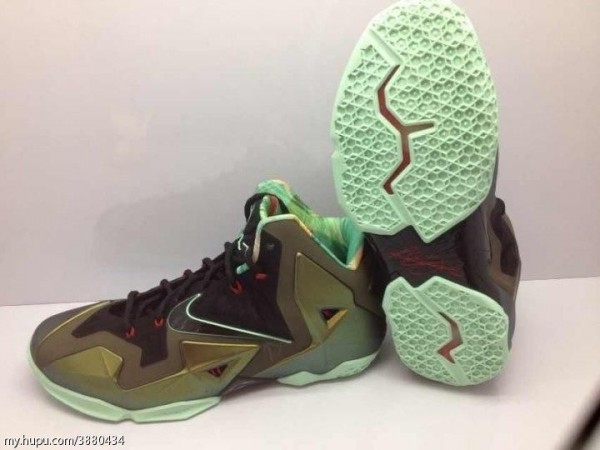 reputable site 05b42 88687 Nike LeBron XI - Army Slate - New Image   Sole Collector