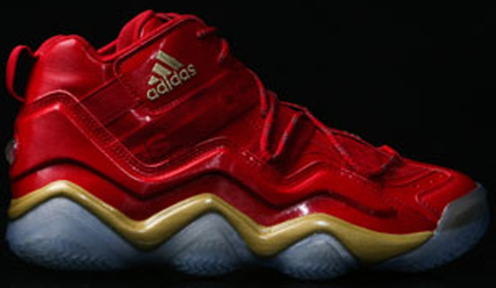 adidas Top Ten 2000 Power Red/Gold Metallic-Grey