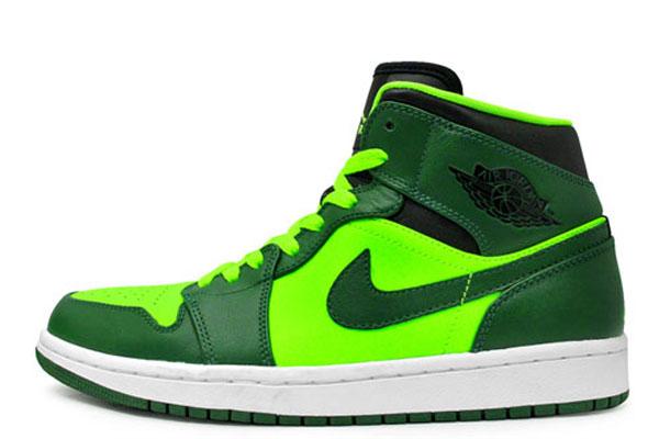 air jordan green