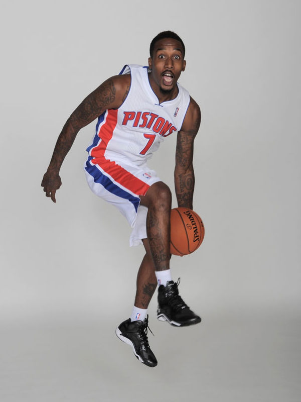 Brandon Jennings wearing Under Armour Anatomix Spawn