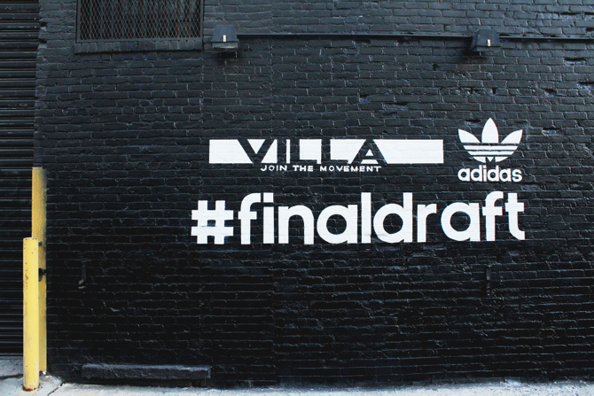 Villa x adidas Originals Final Draft Top Ten Launch