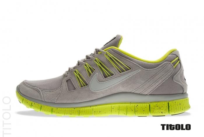 Nike Free 5.0+ EXT - Medium Grey / Strata Grey / Cyber