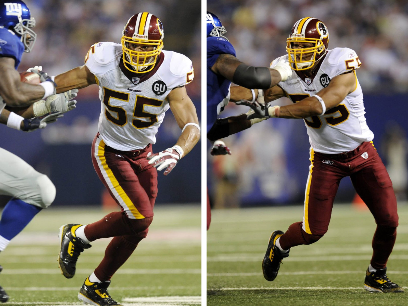 Jason Taylor Wearing Air Jordan III 3 Redskins PE Cleats (2)