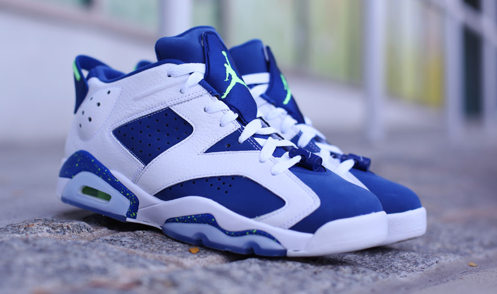 Air Jordan 6 Green Blue