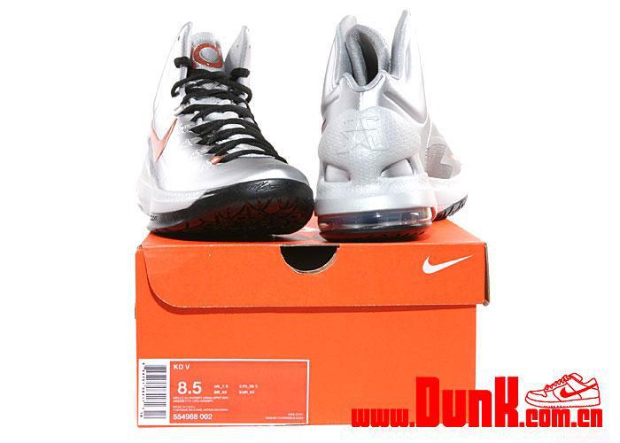 online store 20b25 68211 Nike KD V Metallic Silver Desert Orange Sport Grey Black 554988-002 (6)