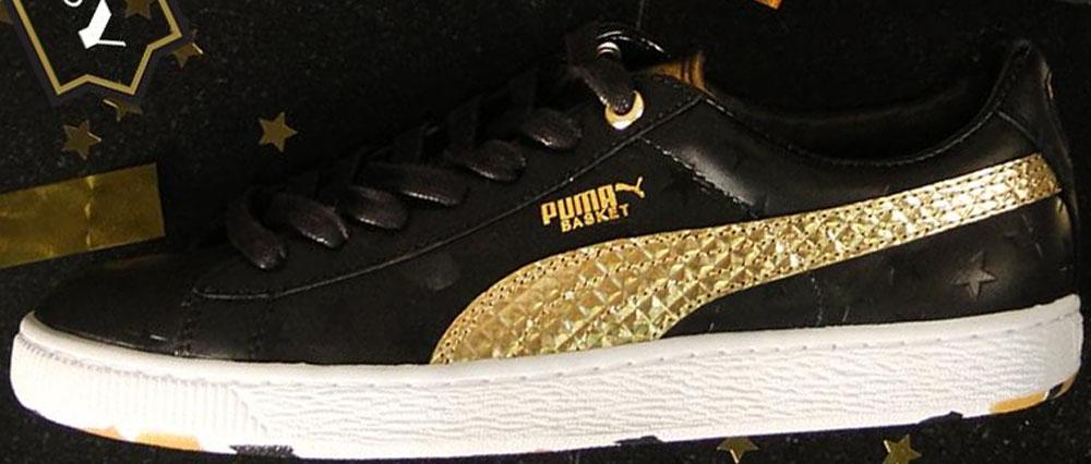 Puma Basket Black/Gold