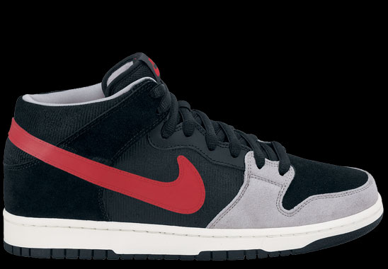 Nike Dunk Mid Pro SB Black Varsity Red Mean Green