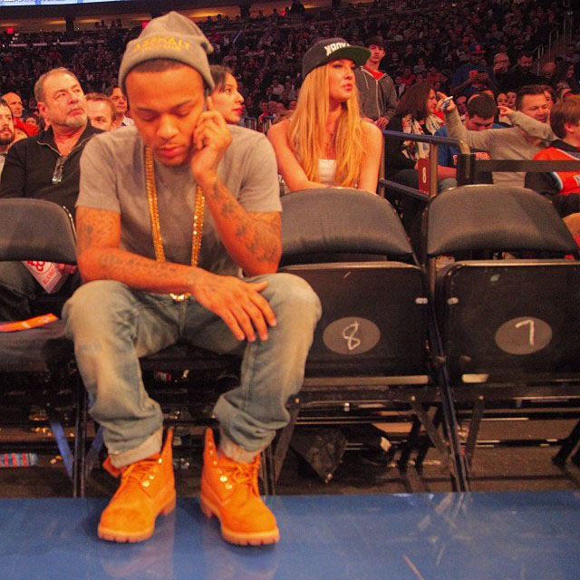 Bow Wow wearing Timberland 6-Inch Wheat