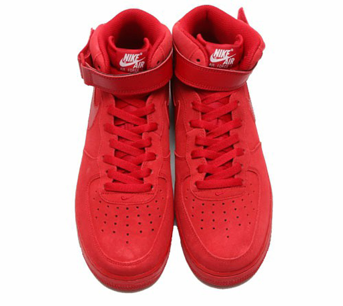 new style 2c611 58d93 Image via Zozo · Nike Air Force 1 Mid All Red Top