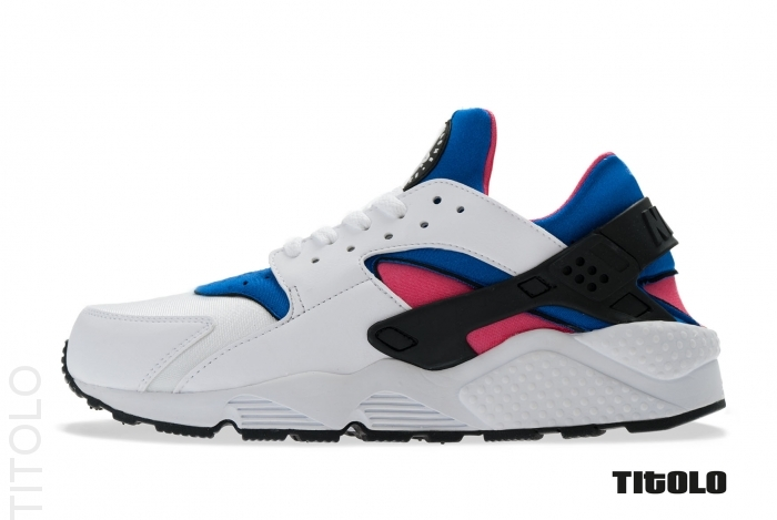 red white and blue huaraches