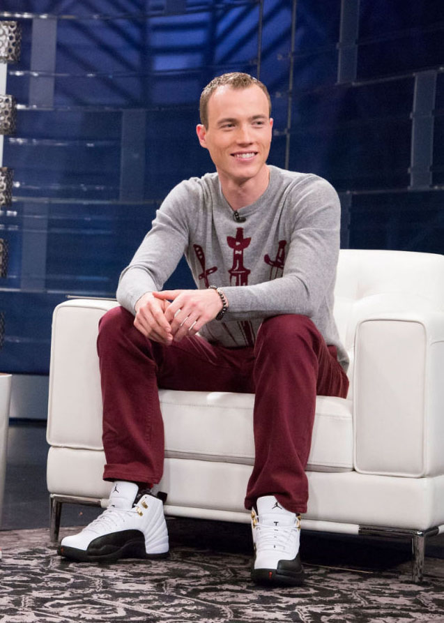 DJ Skee wearing Air Jordan 12 Retro Taxi