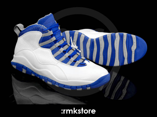 air jordan 10 blue and white