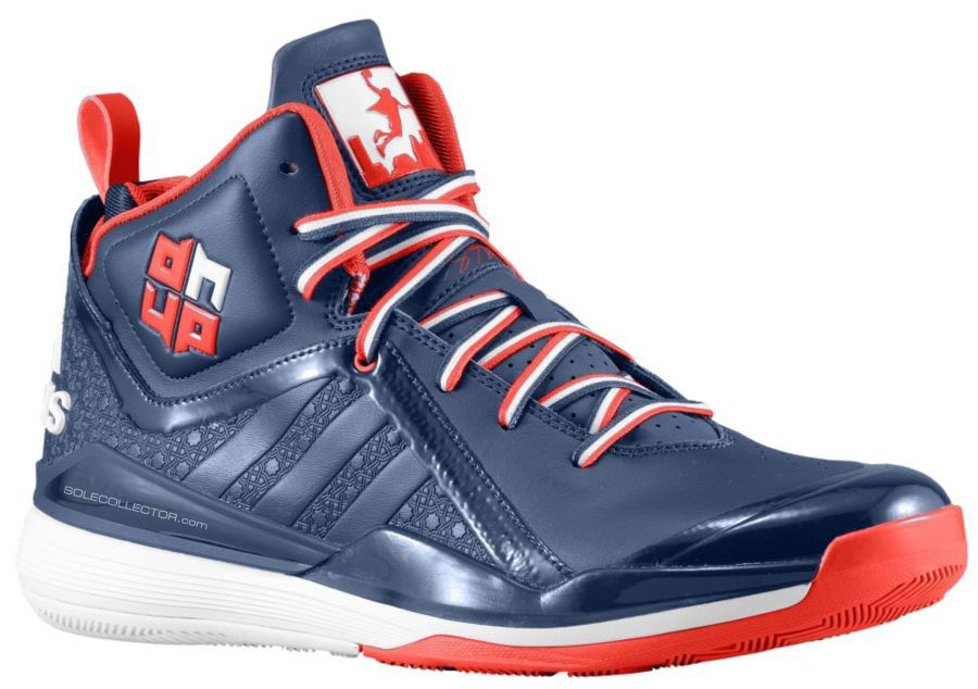 free shipping eb70c f8387 adidas D Howard 5 Navy Red White (1)