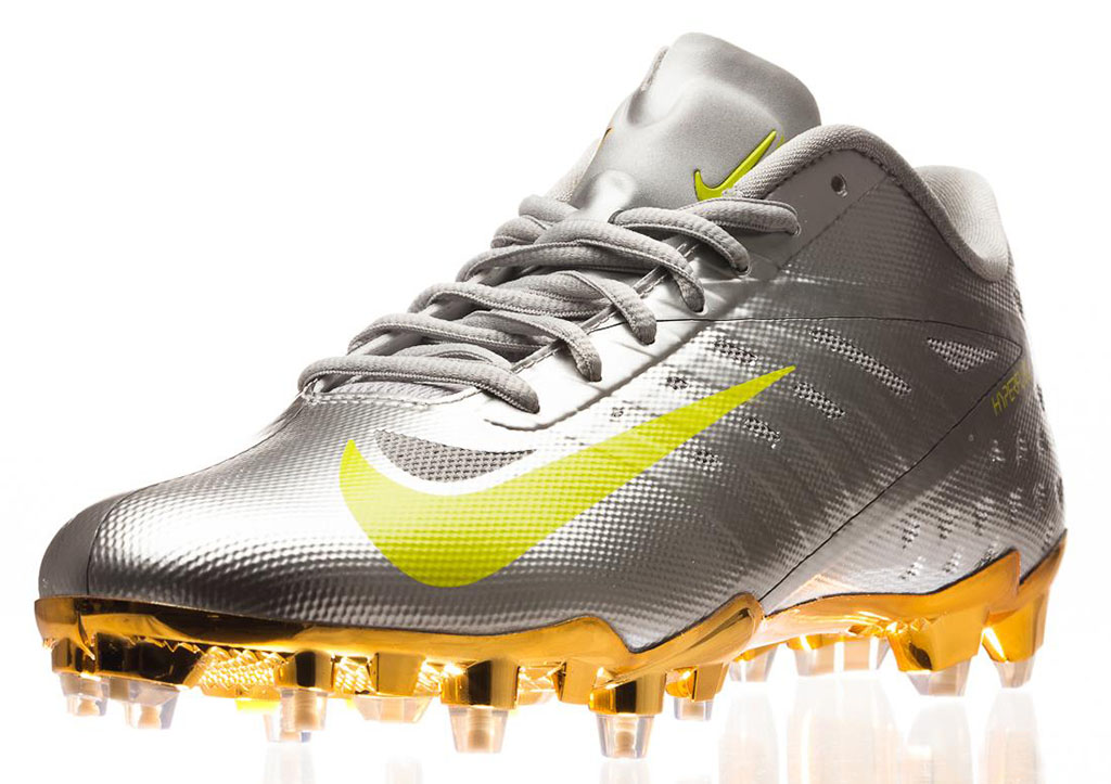 Nike Elite11 Vapor Talon Elite Cleats - Silver (6)