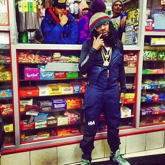Wale wearing Nike LeBron XII 12 Dunk Force