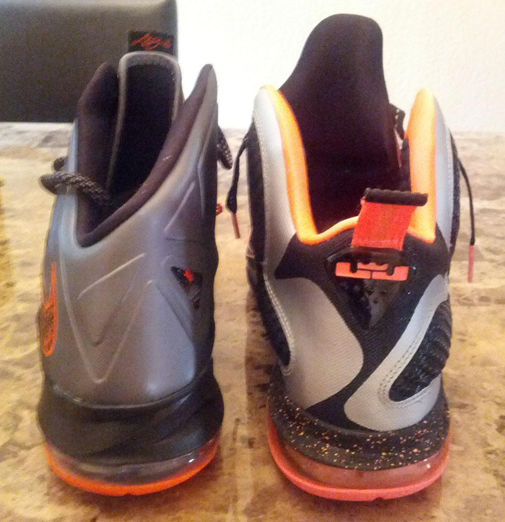 Nike LeBron 10 X Silver Black Orange