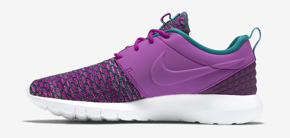 87b5f4ac9f19 Nike Flyknit Roshe Run NM PRM Color  Purple Dusk Grand Purple-Radiant  Emerald Style    746825-500