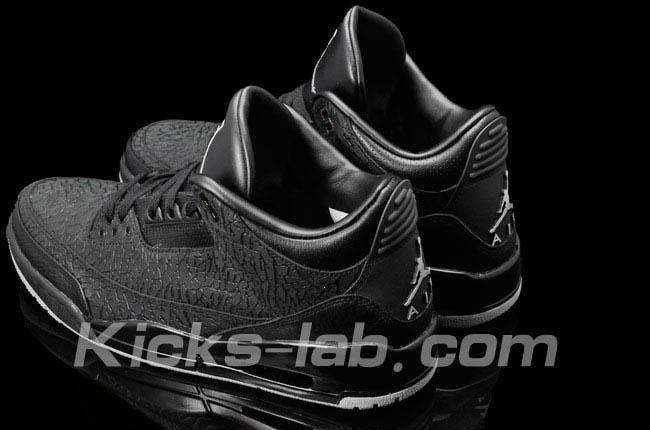 8172e6c6b Air Jordan 3 III Retro Black Flip 315767-001